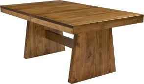 Amish Dining Tables Amish Handcrafted And Custom Kitchen Trestle Tables