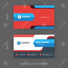 Biz Card Template Vector Modern Creative And Clean Business Card Template Flat