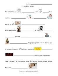 spanish reflexive verbs daily routine rutina diaria by ameduria