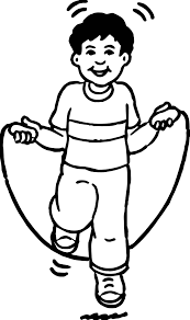 the boy is jumping kids coloring page wecoloringpage