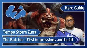 tempo storm zuna u2012 butcher first impressions and build youtube