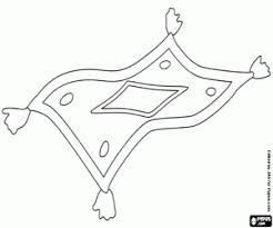 tappeto disegno il tappeto volante di aladino da colorare e stare