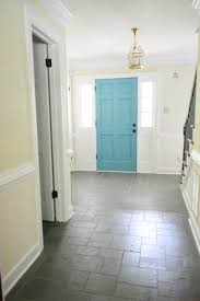 painting the back of your front door a bold color bright colours