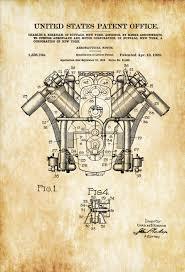 curtiss airplane engine patent 1920 airplane blueprint vintage