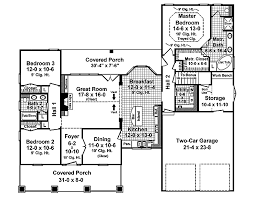craftsman style house plan 3 beds 2 00 baths 1800 sq ft plan 21 345