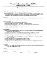 Ministry Resume Templates Youth Pastor Resume Sles Haadyaooverbayresort Com