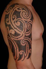 tribal bicep tattoos for guys tribal breast cancer tattoos great