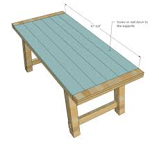 Garden Wood Furniture Plans by Ana White Benchright Farmhouse Table Diy Projects