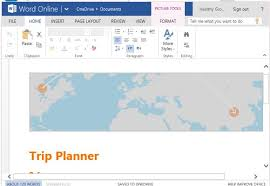 free trip planner template for word online