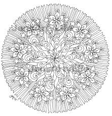 fire and ice mandala kaleidoscope coloring page