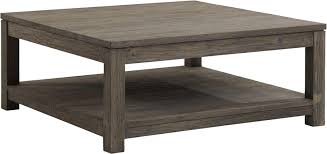 Attractive Grey Farmhouse Square Wood Coffee Table With Storage