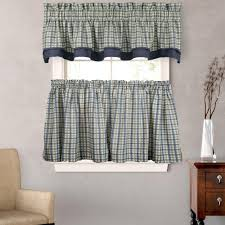 bristol plaid two tone kitchen u0026 tier curtain ellis curtain