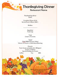 27 images of free printable thanksgiving menu template leseriail