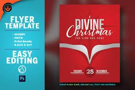 a divine christmas flyer template flyer templates creative market