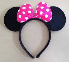 minnie mouse hair bow minnie mouse headband children party minnie mouse ears baby hair