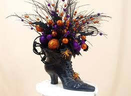 halloween decoration witch boot centerpiece witch boot