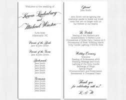 sided wedding programs simple wedding program customizable design