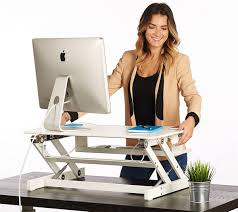 white standing desk the deskriser height adjustable heavy