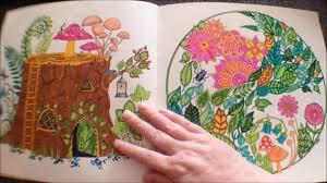 enchanted forest johanna basford colouring book flipthrough