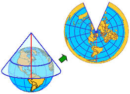 what is a map projection get to a projection lambert conformal conic wired