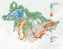 The Great Lakes Map Mapping The Human Impact On The Great Lakes Canadian Geographic