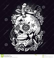 voodoo sugar skull royalty free stock photography image 35443757