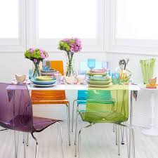 Perspex Dining Chairs Multi Coloured Chairs 12 Best Clear And Coloured Acrylic Chairs