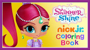 shimmer u0026 shine children u0027s coloring book games nick jr app for