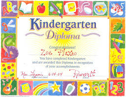 preschool certificates template congratulations certificate template kindergarten