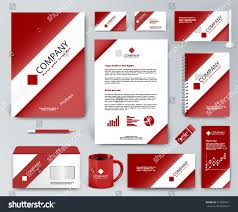 professional universal branding design kit white stock vector