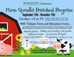 msu tollgate farm sprouts preschool program out and about