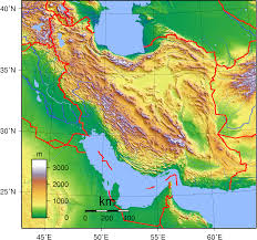 Physical Map Of Asia by Physical Map Of Iran