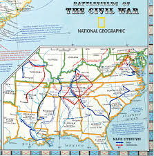 Cairo Illinois Map by Battlefields Of The Civil War Map National Geographic Society