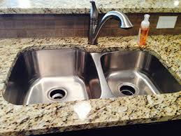 granite countertop sink options 60 40 stainless steel undermount sink with granite countertop