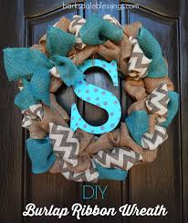 barksdale blessings diy burlap ribbon wreath