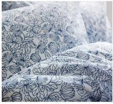 Original Duvet Covers Ikea Bladvass Queen Double Duvet Cover Set Blue White Floral Full