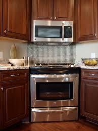 Oven Backsplash Granite Counters Tile Backsplash Slide In Range Hardwood