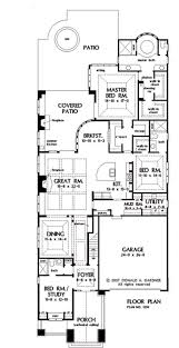 house plans for narrow lots for narrow lots hwbdo10424 bungalow house plan from