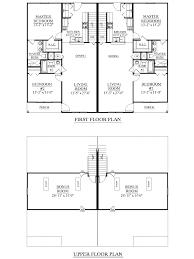 Duplex Plan by Houseplans Biz House Plan D1526 A Duplex 1526 A