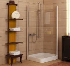 architecture white merola tile wall with rain shower and corner