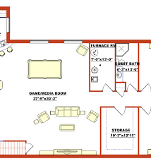 Finished Walkout Basement Floor Plans Basement Floor Plan Phillippe Builders Walkout Basement Floor