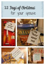 12 days of christmas for your spouse free printables gift and free