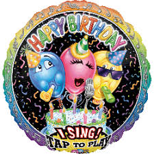 28 singing birthday balloons