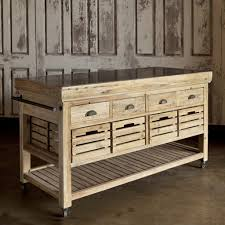rustic long kitchen island table which are made of unfinished