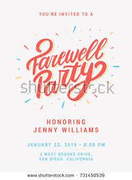 farewell party invitation farewell party invitation stock vector 731450539