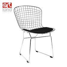 chaise m tallique fil métallique chaise côté avec coussin de siège de haute qualité