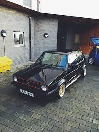 slammed volkswagen golf view topic reduction black mk1 golf gti 1981 slammed gold