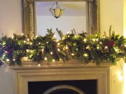 fireplace garlands happy holidays