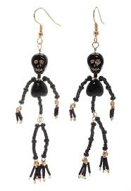Halloween Jewelry Crafts - tutorial how to ded skelton earring project beadaholique