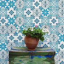 mediterranean design tile stencils for walls floors and diy kitchen decor royal